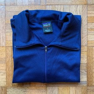 Men's Patagonia Capilene Zip Navy Blue Pullover, L
